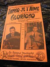 Partition Tango je t'aime Jean Segurel Glorioso Claude Bonheur Music Sheet 1959