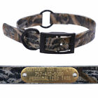 """1"""" Real Tree Camo Center Ring Dog Collar with Custom Name Tag ID Plate"""