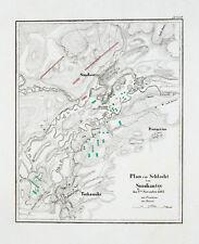 1857 Smoliantsy Tschaschniki Weissrussland Belarus Napoleon Kupferstich-Plan