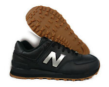 [ML574-LEB] NEW BALANCE CLASSICS TRADITIONNELS BLACK SILVER MEN SNEAKER Sz 7.5