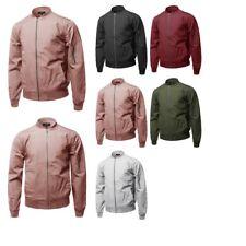 FashionOutfit Men's Casual Basic Style Zip Up Sleeve Pocket Bomber Jacket
