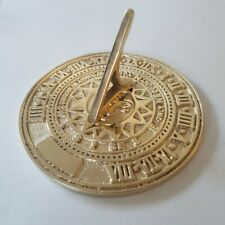 More details for solid polished brass 'only count your sunny hours' sundial - 125mm