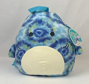 Squishmallows Series 1 Soft Plush BACKPACK 12 inches Luther the Shark