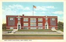 West Liberty Ohio High School Entrance View Antique Postcard K16258