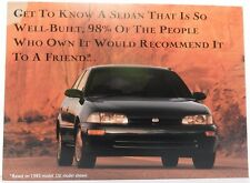 GEO LSI PRIZM SHOWROOM NOS 93 PROMO 1993 CHEVY DEALER DEALERSHIP POSTCARD