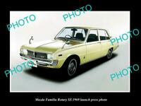 OLD POSTCARD SIZE PHOTO OF 1969 MAZDA FAMILIA ROTARY SS LAUNCH PRESS PHOTO