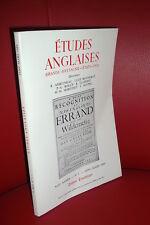 Études anglaises : Grande-Bretagne, Etats-Unis 1989 (Swift, Crise Irlande Nord..