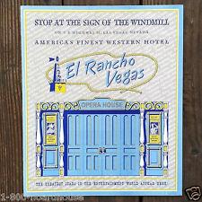 2 Vintage Original 1954 EL RANCHO LAS VEGAS HOTEL CASINO Restaurant Menu Unused
