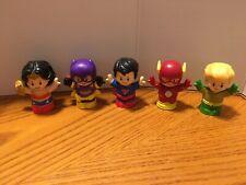 Fisher Price Little People Dc Super Friends Flash Aquaman WonderWoman Batgirl &