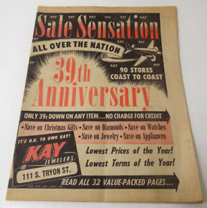 Kay Jewelers 1953 Sale Booklet Incl. Housewares, Radios, Watches, Charlotte NC