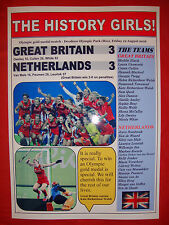 GB 3 Netherlands 3 - Rio 2016 Olympic women's hockey final - souvenir print