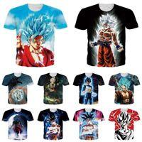 Dragon Ball Z Super Saiyan Goku 3D Print Mens Womens Short Sleve T-Shirt Tee Top