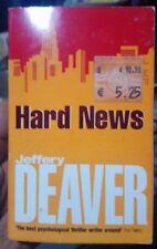JEFFERY DEAVER Hard News 2001 SC Book AU Stock Free shipping