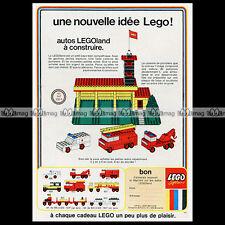 LEGO SYSTEM Legoland 347 Caserne de Pompiers 1970 Pub Publicité Advert Ad #A1021
