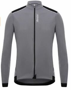 Santini Primo Long Sleeve Cycling Jersey in Grey