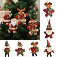 Merry Christmas Santa Claus/Snowman/Elk Hanging Ornaments Xmas Tree Doll Decor