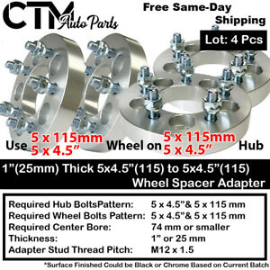 """4Pc 1"""" THICK 5x4.5(115) to 5x4.5(115) WHEEL ADAPTER SPACER FIT MAZDA/PONTIA/MORE"""