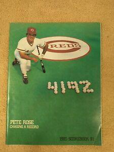 Cincinnati Reds Baseball MLB Pete Rose 1985 Scorebook Marlboro Pepsi Book