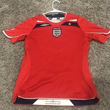 Umbro 2008 Official England Soccer - Football Red Shirt Womens Size 6