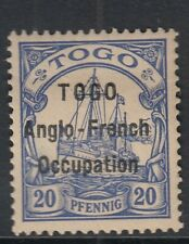 TOGO ANGLO-FRENCH OCCUPATION OVPT - SGH4 - 20pfultramarine - mounted mint