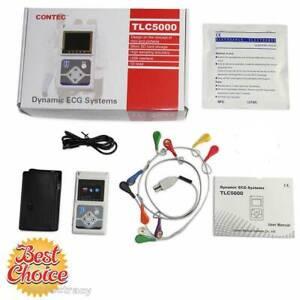 TLC5000 Holter Dynamic ECG/EKG System 12 Channel 24h Record Analyzer Software,CE