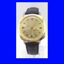 Stunning Vintage Gold Topped 7 Jewel Swiss Lectro Gents Wrist Watch 1977