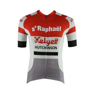 Helyett Hutchinson Retro Cycling Jersey  Cycling Short Sleeve Jersey