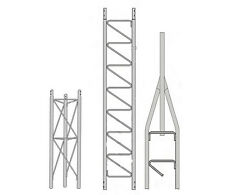 Rohn 25Ss020 25G Series 20' Self Supporting Tower Kit