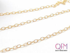 30.5meter (100 Feet) Gold Filled 14K Cable Link Chain Unfinished 1.7mm