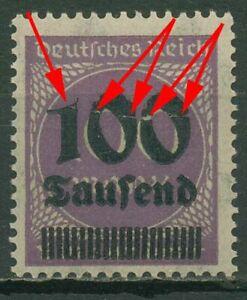 Deutsches Reich 1923 Freimarke mit Plattenfehler 289 b AF VI postfrisch