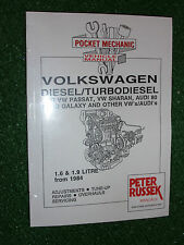 AUDI SEAT FORD 1.6 1.9 DIESEL +TURBO TDi ENGINE MANUAL 80 100 GALAXY TOLEDO '84>