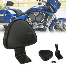 Motorcycle Rear Backrest Seat Sissy Bar Pillion Pad For Victory High-Ball Vegas