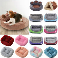 Puppy Pet Dog Cat Bed Plush Soft Warm Sleeping Kennel Nest Fluffy Calming Bed