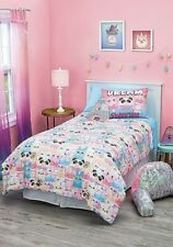 NWT Justice Girls Sweet Treat Panda Bedding Set Comforter Size Twin