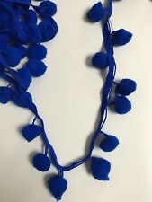 Attraente Indiana Blu POM POM Palla Scarpa Bobble braidlace Trim-UN METRO