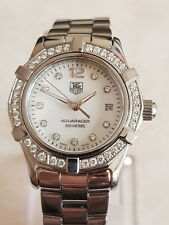 TAG Heuer Aquaracer orologio con diamanti, WAF1416