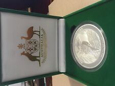 2014 Perth Mint 10 oz Kookaburra PURE SILVER Bullion Coin IN GIFT BOXE