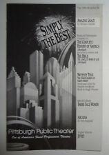 AMAZING GRACE - SOUVENIR PROGRAM - 1995 PITTSBURGH PUBLIC THEATER