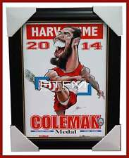 Lance Buddy Franklin 2014 Coleman Medallist Limited Edition Print Framed Sydney
