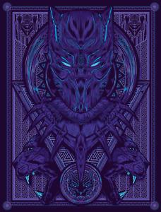 Black Panther Marvel Digital Art Poster Print T555 |A4 A3 A2 A1 A0|