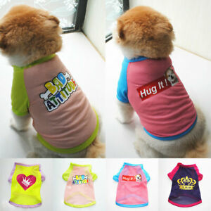 Dog Puppy Summer Clothes Sun Protection Short Sleeve Vest Pet Mesh T-shirt Tank