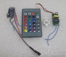 10W RGB SMD LED Diodes light + IR Controller With 24 key Remote + 85~265V Driver