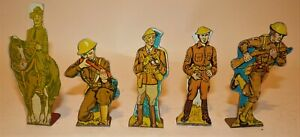Vintage Marx Tin Target Figures US Army WWI