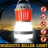 Solar USB UV LED Fly Insect Bug Pest Mosquito Trap Zapper Killer Night Lamp Bulb