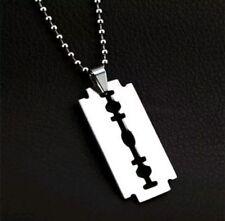 Razor Blade Necklace Pendant Charm Horror Heavy Metal Punk Rock Halloween Gift