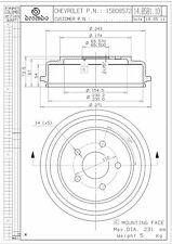 Brembo 14.B581.10 Rear Brake Drum
