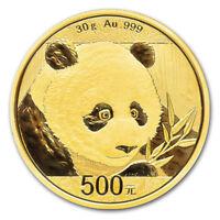 2018 China Gold Panda 30 g 500 Yuan - BU - Mint Sealed