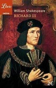 Richard III (ThAAtre) by Shakespeare  New 9782290133965 Fast Free Shipping..