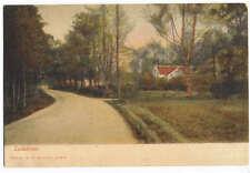 Roadside Home Lundsbrunn Sweden Postcard Scarce