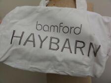 Bamford Haybarn Canvas Yoga/Gym Bag in White